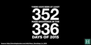 That's the number of shootings, not the number of deaths....